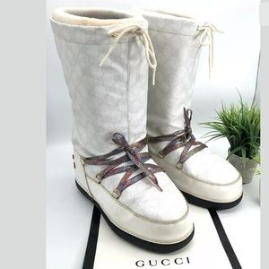 Gucci Authentic GG Plus Winter Moon Snow Boots